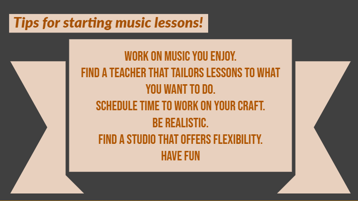 tips for starting music lessons