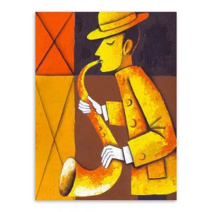 Modern Watercolor Retro Musicians Wall Posters